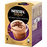 NESCAFE GOLD Double Choc MOCHA Instant Foaming Coffee with Chocolate Mix Sachet 23g (8 Sachets)