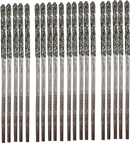 1mm 10pcs Set Diamond Dremel Rotary Wire Hollow Core Drills Bits