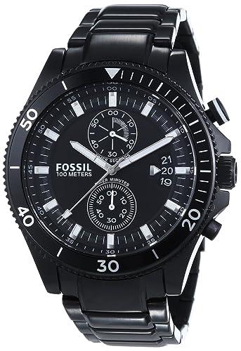 3ba7d126b2cd Fossil Herren-reloj cronógrafo de cuarzo chapado en acero inoxidable  CH2936  Amazon.es  Relojes