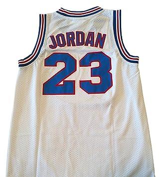 "75ff14dfeec Space Jam Jersey #23 ""Michael Jordan"" Tune squad Jersey White ..."