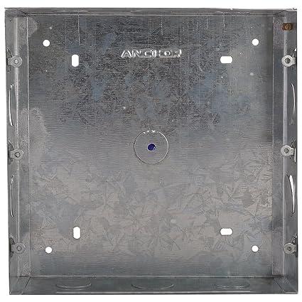 Anchor 21758 Metal GI Box Roma 18 Module, Silver