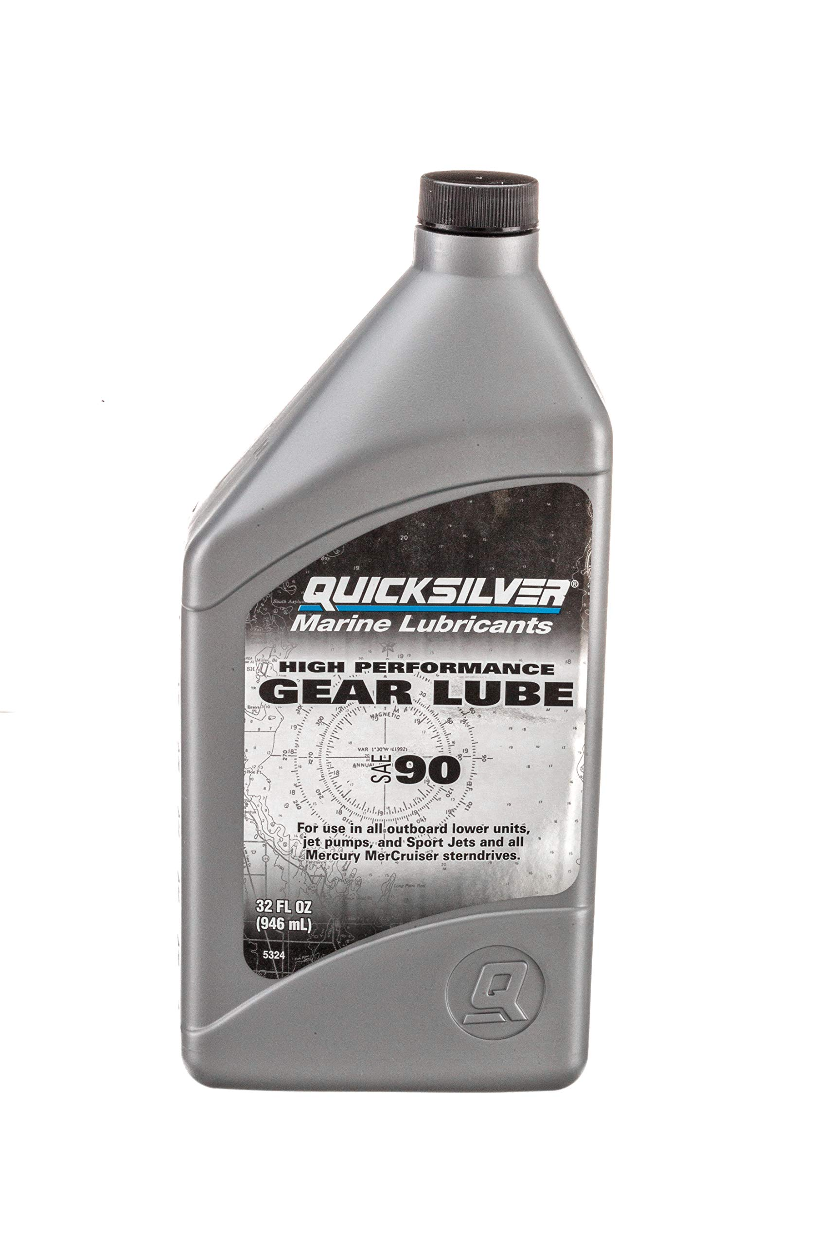 858064Q01 High Performance SAE 90 Gear Lube for Mercury Outboards and MerCruiser Sterndrives, 32 oz