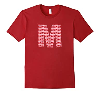 Amazoncom Valentines Day Capital Letter M Alphabet Initial