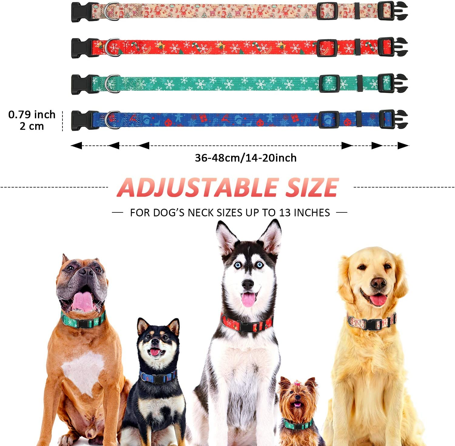 Alaskan Dog Collar Adjustable 14-22 Inches Forget Me Nots Large Dog Collar Floral Dog Collar Alaska Dog Collar Ready To Ship