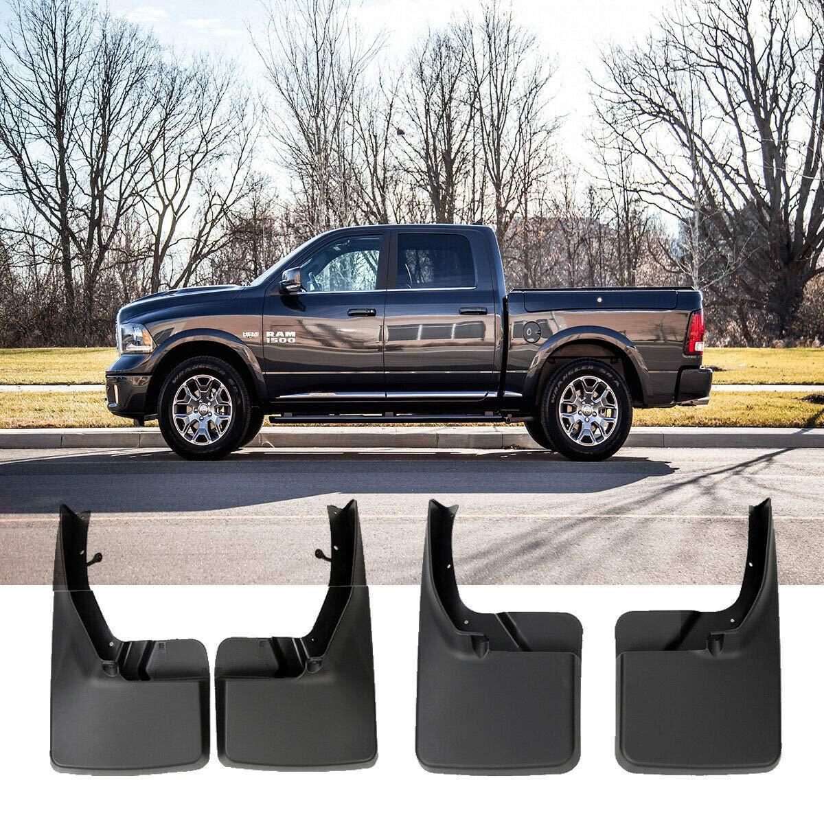 Set of 4 Mud Flaps Splash Guard for 2009-2018 Dodge Ram 1500 2500 3500 without Fender Flares