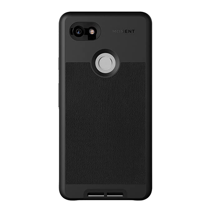 brand new 71667 a4423 Pixel 2 XL Case || Moment Photo Case in Black Canvas - Thin, Protective,  Wrist Strap Friendly case for Camera Lovers.