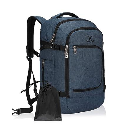 Hynes Eagle Bolsa de Viaje 40L Cabin aprobada para Viajar en Cabina como Equipaje de Mano 55x40x20 cm (Azul 1, Mochila + Cubierta Impermeable para ...