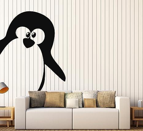 Pegatina de Pared Vinilo Adhesivo decoración de pingüino Animal ...