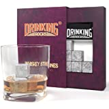 Whisky Stones - Chills Your Drink Without Dilution - Soapstone Whisky Rocks - Perfect For Whiskey Drinkers - Set of 9 Ice Stones - Great Stocking Stuff