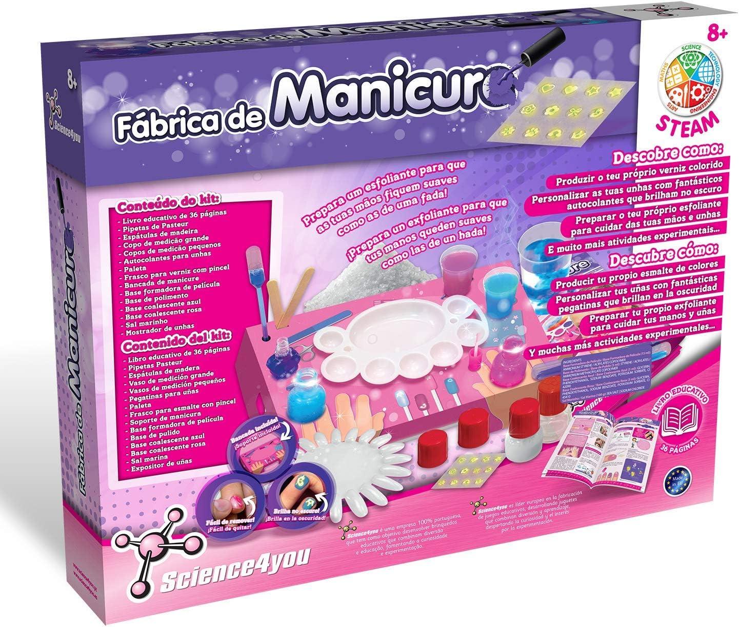 8 A/ños Science4you-F/ábrica de Manicura-Juegos y Juguetes Cientifico y Educativo-Regalo Ni/ñas 80002647