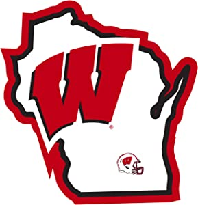 NCAA Siskiyou Sports Fan Shop Wisconsin Badgers Home State Decal One Size Team Color