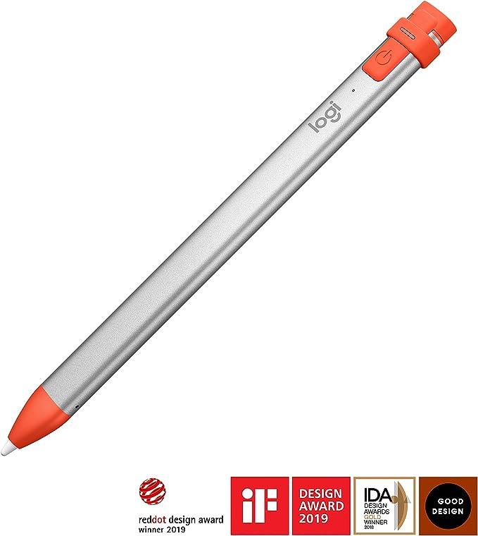 Logitech Crayon Lápiz Digital para Todos los iPad 2019 o posteriores, iPad, iPad Pro, iPad Mini, iPad Air with iOS 12.2 o posterior, Naranja: Logitech: Amazon.es: Informática