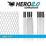 ECD Lacrosse Hero2.0 Complete Kit Lacrosse Mesh kit Hero Mesh 2.0 White