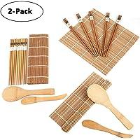 Lawei Juego para hacer sushi de bambú (2