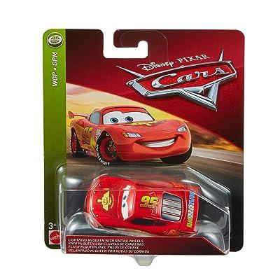 Disney Pixar Cars Lightning McQueen with Racing Wheels: Toys & Games [5Bkhe1401039]