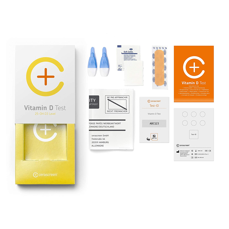 Kit para test de análisis de vitamina D de CERASCREEN - medir el nivel de vitamina D3 en casa | Test de vitamina D | Comprar ahora online un test de ...
