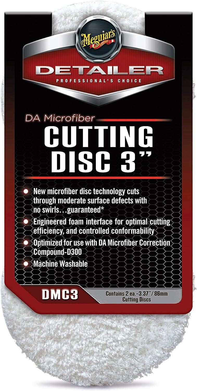 Meguiars DMC3 DA Microfiber Cutting Discs 3 inch 2 pack