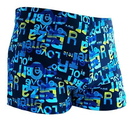 Fablcrew bañadores Bañador de playa Bañador para deportes de verano Surf natación vacaciones azul letras L