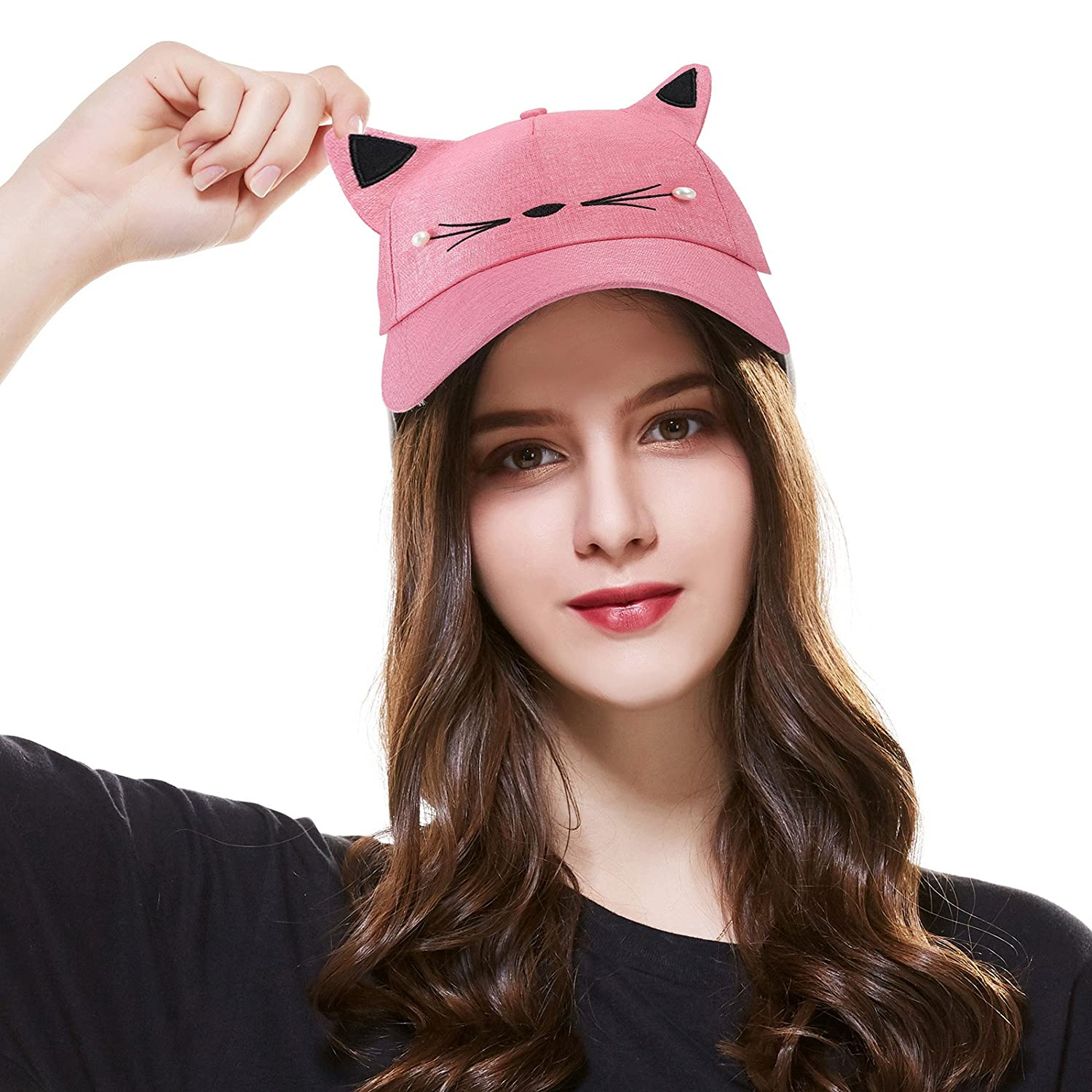 Kajeer Women Cute Cat Adjustable Baseball Cap Hat