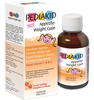 Pediakid Appetite-Weight Gain. All New Formula. Natural Appetite and Weight Gain Stimulant