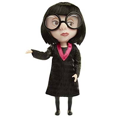 The Incredibles 2 Edna Action Figure Doll in Deluxe Costume and Glasses: Toys & Games