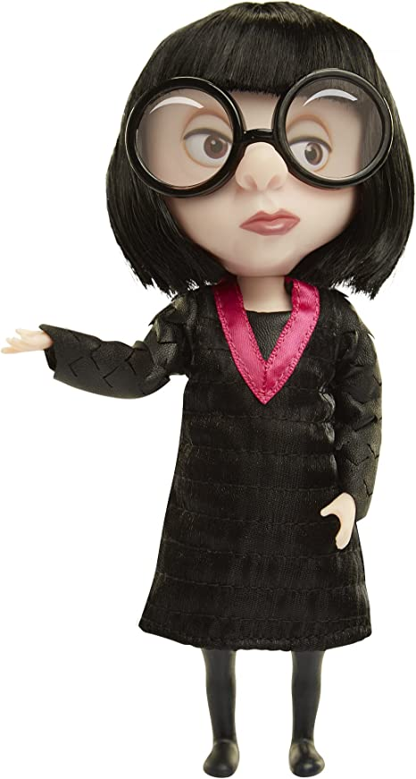 Amazon Com The Incredibles 2 Edna Action Figure Doll In Deluxe Costume And Glasses Toys Games