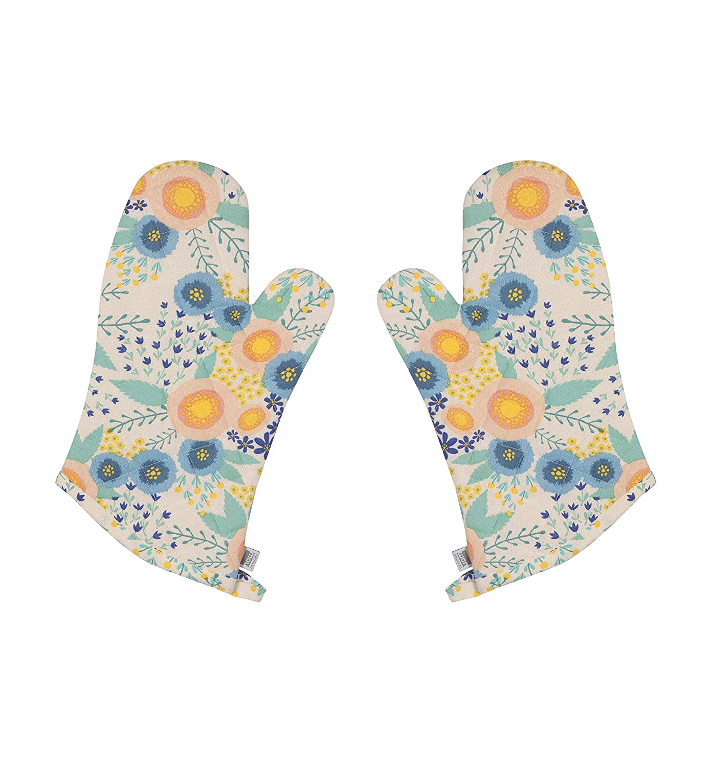 Now Designs 2117012aa Classic Oven Mitt, Set of Two, Rosa Print,