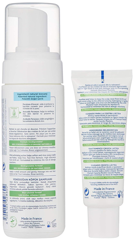 Amazon.com: Mustela Cradle Cap Bundle, Natural Baby Shampoo and ...
