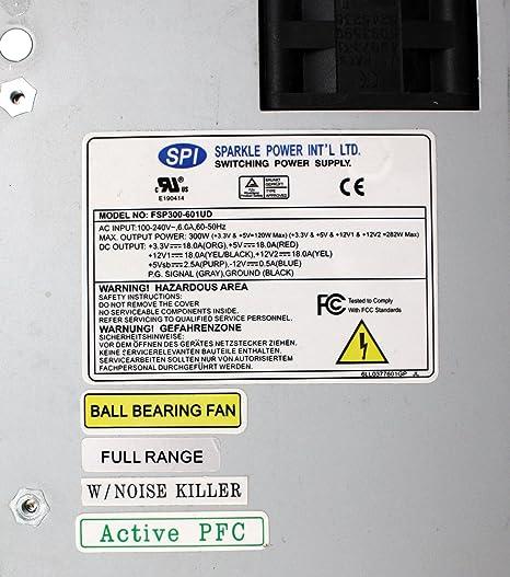 Amazon com: FSP300-601UD - 300W POWER SUPPLY P/N: 9PA300C301