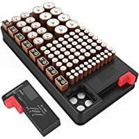 Battery Organizer Storage case with Battery Tester for AAA AA C D 9V and Button Batteries Storage Box Holds 110…