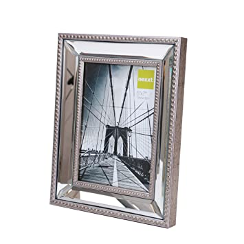 kiera grace sutton mirrored picture frame 5 by 7 inch champagne
