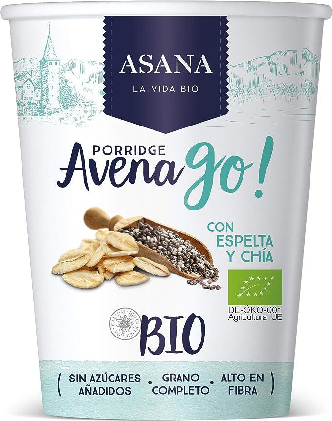 Porridge de avena y espelta con canela y chía 55gr ASANA: Amazon ...