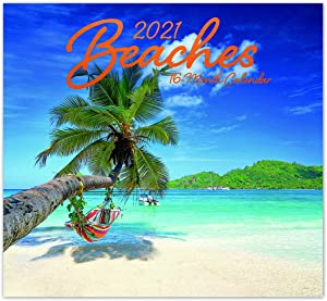 2021 Beaches 16-Month Wall Calendar for Planning, Scheduling, and Organizing