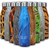 Insulated Stainless Steel Water Bottle - Endangered Species Edition - Metal Thermo Style Bottles Great For Sports Gym Kids - Keeps Drinks Hot & Cold - 17 Oz Large