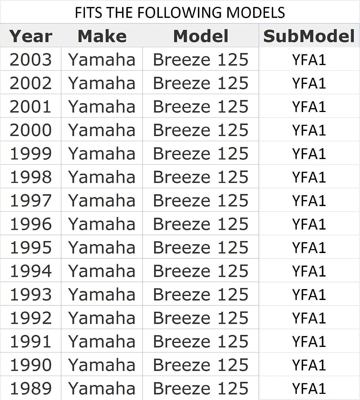 1994 1991 1990 1992 YAMAHA YFA1 BREEZE 125 BLACK SEAT COVER 1989 1993