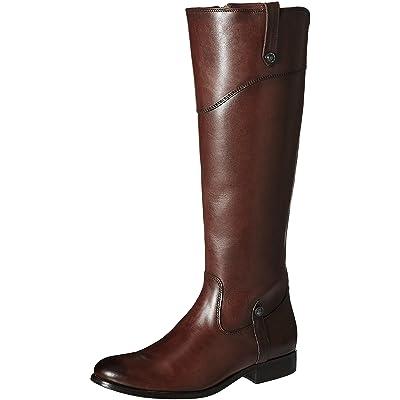 Frye Women's Melissa Tab Tall Riding Boot, Redwood, 6 M US | Knee-High