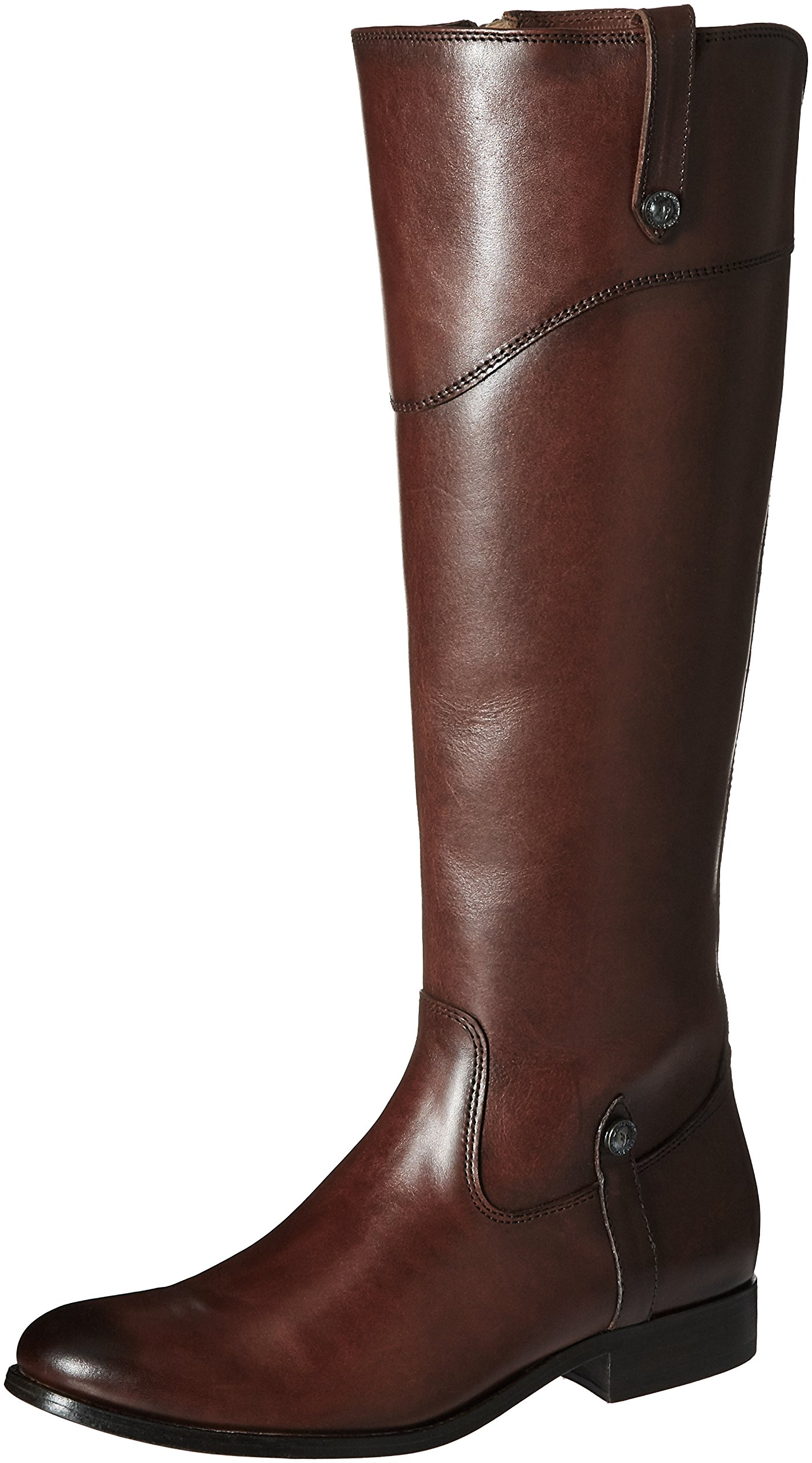 FRYE Women's Melissa Tab Tall Riding Boot, Redwood Extended, 8 M US