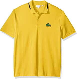 60d923e401832 Lacoste Men s Lve Short Sleeve Big Croc Polo-Regular Fit at Amazon ...