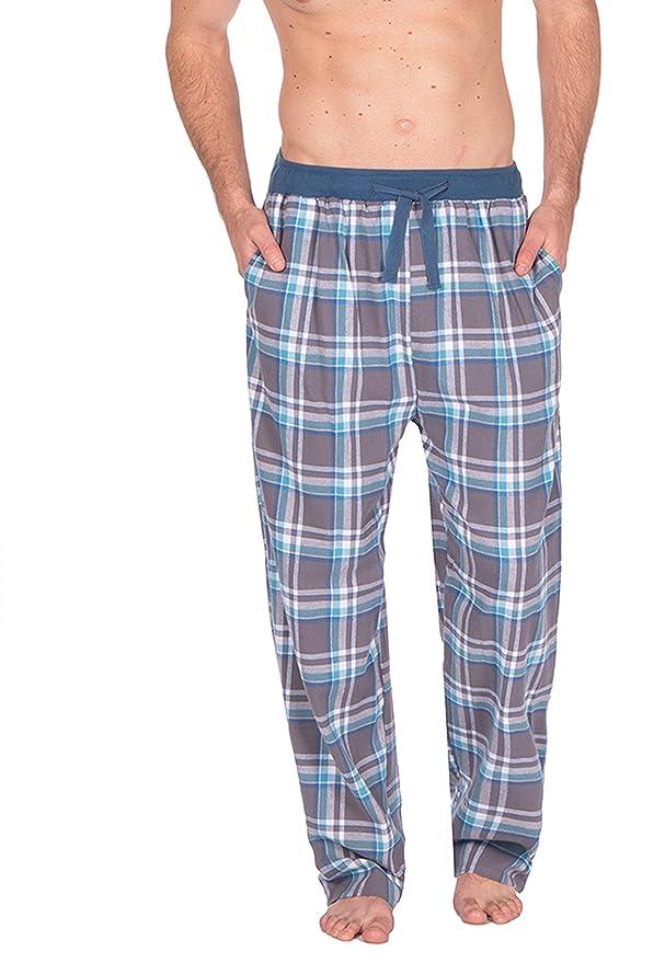 Hombre Tejido Pantalones De Andar Por Casa Pijamas Ropa Para Dormir De cuadros Franela Pijama PJS S-XL: Amazon.es: Ropa y accesorios