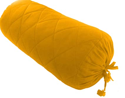 Amazon.com: Mustard Quilted Bolster Pillowcase - Yoga ...