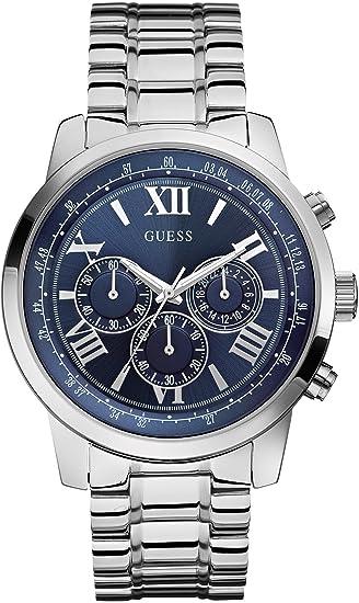 Guess Reloj analogico para Hombre de Cuarzo con Correa en Acero Inoxidable W0379G3