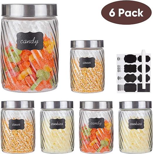 MegaChef Essential Kitchen Storage 3 Piece Sugar, Coffee and ...