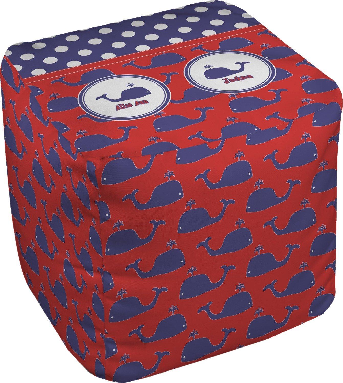 RNK Shops Whale Cube Pouf Ottoman - 13'' (Personalized)
