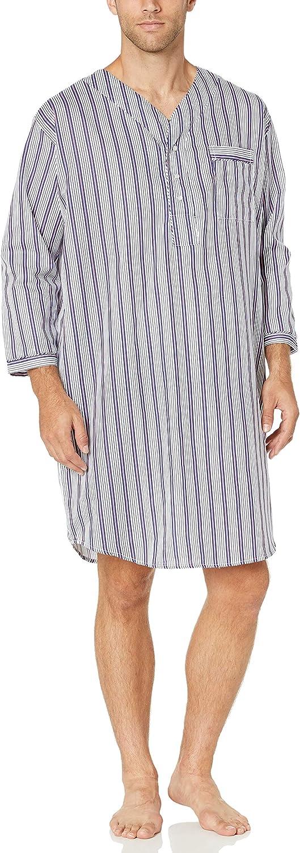 Benefit Wear Mens Adaptive Backsnap Long Sleeve Hospital Style Nightshirt