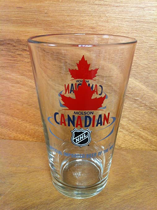 Molson Canadian Nhl 16 Oz Pint Beer Glass Beer Glasses