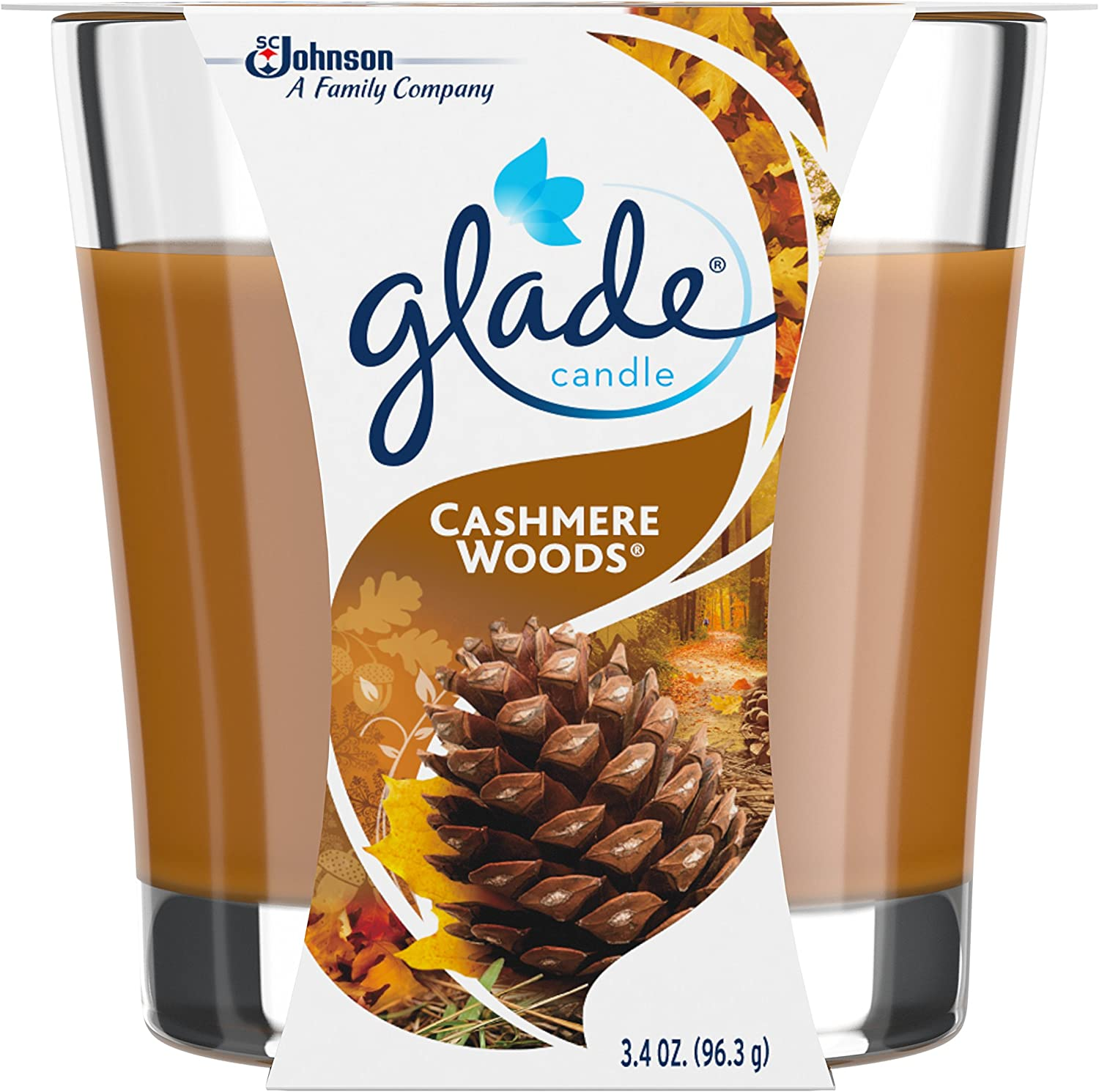 Glade Jar Candle Air Freshener, Cashmere Woods, 3.4 Ounce