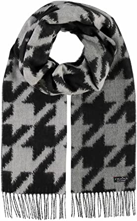 761490af6479 Fraas Echarpe Cashmink Pied-de-poule foulard pour femme (taille unique -  gris