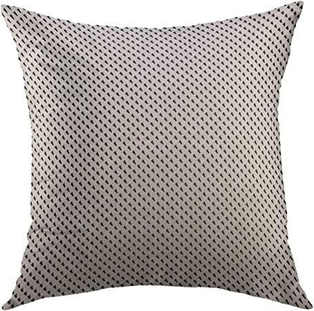 Throw Pillow Cover Repeated Black