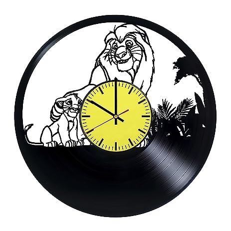 Amazon.com: Beauty And The Beast Cartoon Wall Clock – Vinyl Record ...