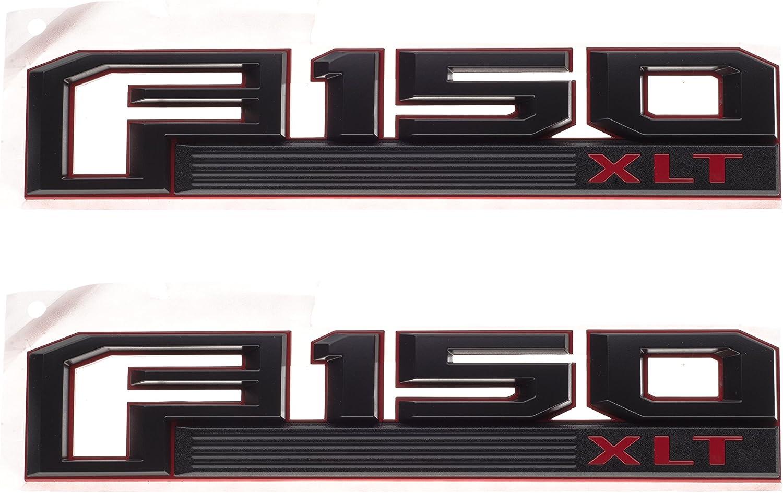 2015-2017 F-150 XLT Red /& Black Left Driver Fender Emblem NEW OEM GL3Z-16720-D